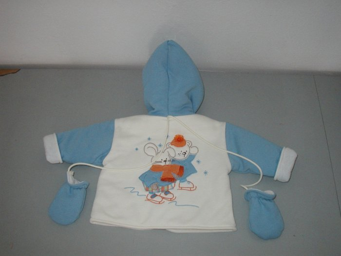 Patineur Jacket with Mittens -Size 6M