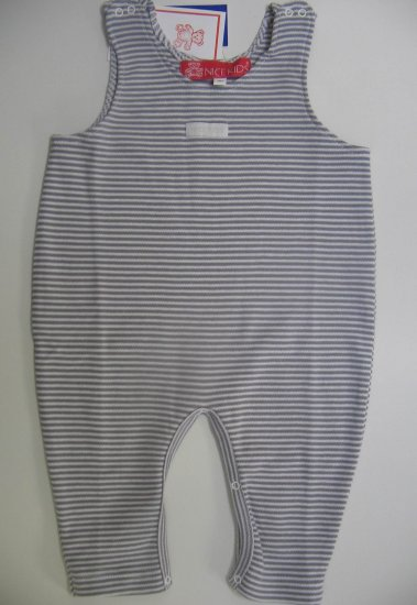 SUCETTE Antimicrobial Cotton Overall- 6M, Gray. Imported.