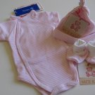 SUCETTE Antimicrobial Cotton Baby Essential Combo- Rose, 0M. Imported.