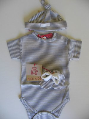 SUCETTE Antimicrobial Cotton Baby Essential Combo- Grey, 0M. Imported.