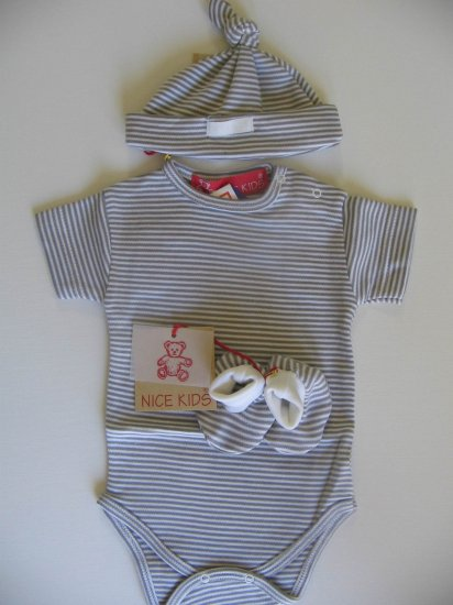 SUCETTE Antimicrobial Cotton Baby Essential Combo- Grey, 3M. Imported.