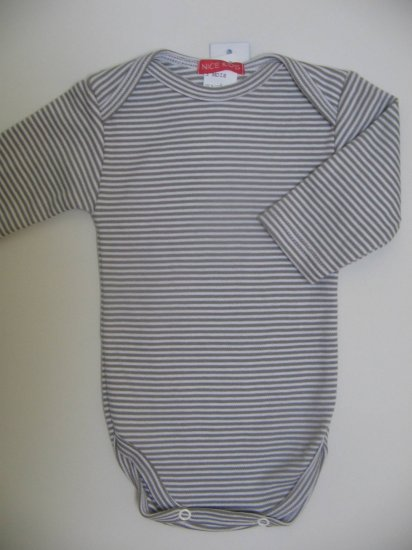 SUCETTE Antimicrobial Cotton Long sleeved Bodysuit- 3M, Grey. Imported.