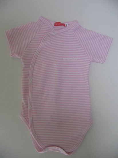 SUCETTE Antimicrobial Cotton Short sleeved Bodysuit- 3M, Rose. Imported.