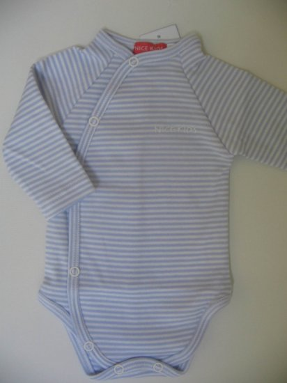 SUCETTE Antimicrobial Long sleeved Bodysuit- 6M, Sky blue. Imported.
