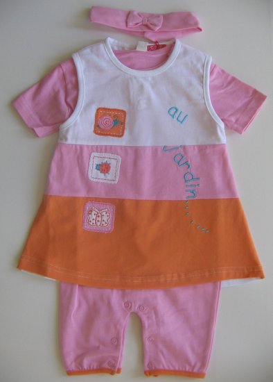 End of Summer SALE item- JARDIN Dress- 3M, Imported from France, FREE SHIPPING