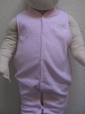 SUCETTE Antimicrobial Cotton No-sleeved Body Suit- 3M, Rose. Imported.