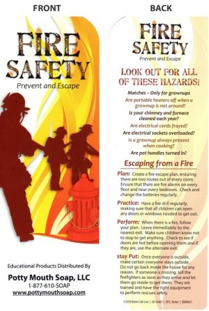 Fire and Safety Bookmark By Potty Mouth Soap