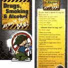 Drugs and Alcohol aren&#39;t for me! Bookmark By Potty Mouth Soap