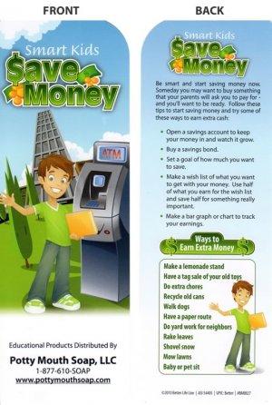 Smart kids save money Bookmark by Potty Mouth Soap