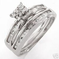 14K Genuine Diamond Engagement Ring