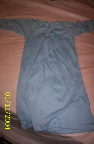 Blue Baby Night Gown Type (Newborn)