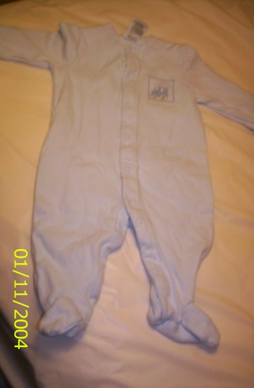 Just one year Blue Baby Boy Pajamas S(0-3M) 8-11 lbs