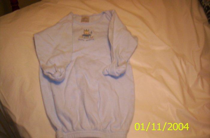 Cutie Pie 6 Months 100% cotton blue night gown pjs