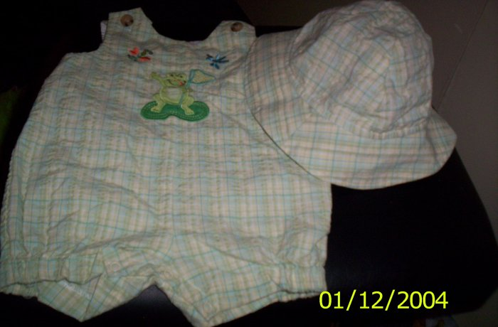 3-6 Month Outfit Goodlad of Philadelphia Frog and Bee Themed