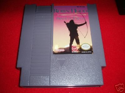 NES GAME Robin Hood Prince of Theives Retro Vintage Rare