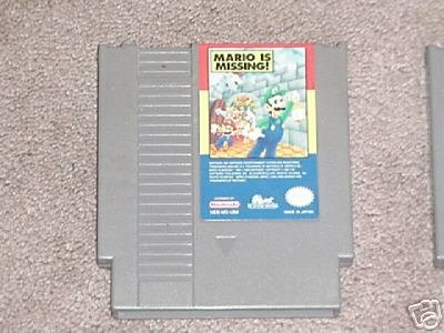 NES Game Mario is Missing Retro Vintage RARE