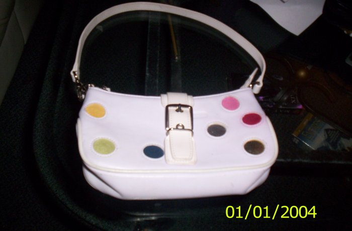 Leather Purse with Polka Dots (different Colors)