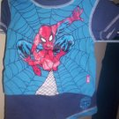 Marvel Spiderman 2 piece set Pajamas Blue Gently Worn 12 months