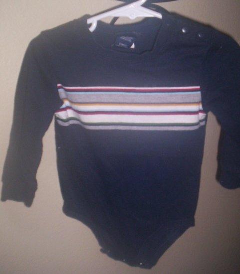 Cherokee Blue Longleeved Shirt Onesie Gently Worn 12 months