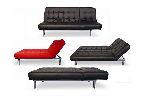 Trio Leather Sofa/Sleeper