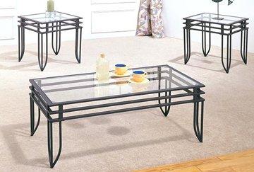 3 pc black matrix design occasional table set 7140 (3 pcs set)