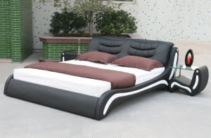 Astro Modern Platform leather Bed (Queen Size)
