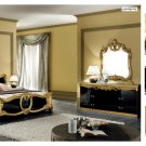 Barocco Classic Bedroom Set in Black with Gold