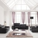 Brown Modern Living Room Set Finest Genuine Italian Leather