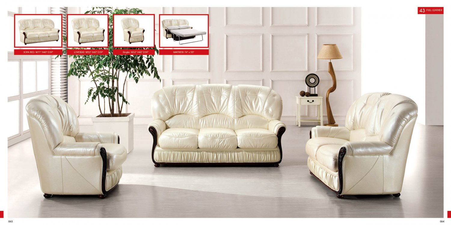will italian leather living room set have