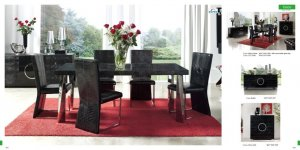 Coco Modern Dining Set with Leather Accent
