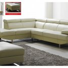 Full Italian Leather Sectional Sofa with Adjustable Headrests