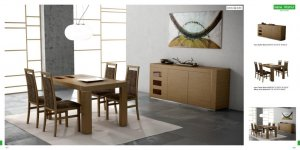 Irene Modern 5pc Walnut Dining Room Set
