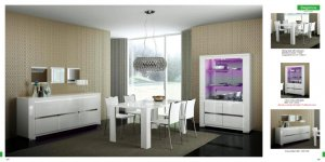 Italian White High Gloss Dining Set Elegance