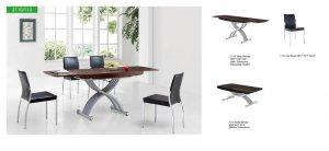 Jetta Ultra Modern Dining Room Set w/ X-shape Wooden Base
