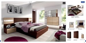 Maya Spain Made Contemporary Bedroom Set