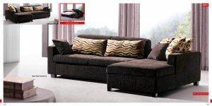 Modern Brown Fabric Sleeper Sectional