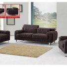 Modern Brown Sofa Set with Adjustable Headrests