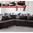 Modern Fabric Sleeper Sectional with Storage