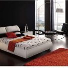 Modern Meg White Leather Bedroom Set