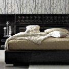 Moon 2 Bedroom Set in Black, Composition 6 - King Size