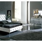 Nelly White Leather Bedroom Set