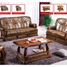 Oakman Classic Italian Leather Sofa Set