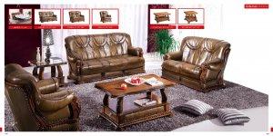 Oakman Classic Italian Leather Sofa Set