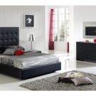 Penelope Modern Bedroom Set in Black - King Size