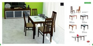 Poker Wenge Finish Glass 5 PC Dining Room Set