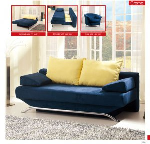 Post-modern Convertible Sofa Bed Croma