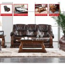 Stylish Castello Dark Brown Leather Sofa Set