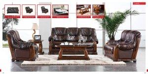 Stylish Castello Dark Brown Leather Sofa Set