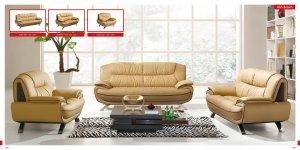 Stylish Living Room Set with Decorative Stitching