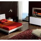 Toledo White Bedroom Set with Platform Bed